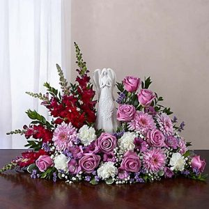 Serenity Angel Arrangement Lavender & White
