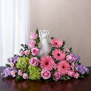 Serenity Angel Arrangement Pink & Purple
