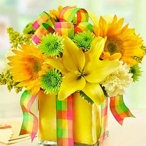 All Wrapped up Yellow by Thomas Florist