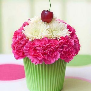 Cupcake in Bloom by Thomas Florist