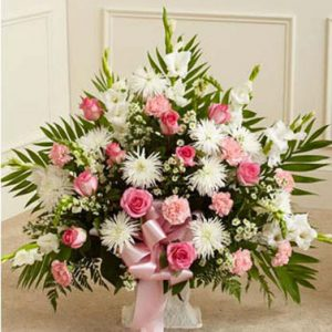 Heartfelt Tribute Basket by Thomas Florist