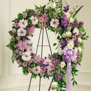 Serene Blessings Standing Wreath-Lavender