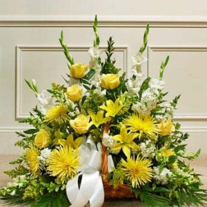 Thoughts and Prayers Fireside Basket-Yellow